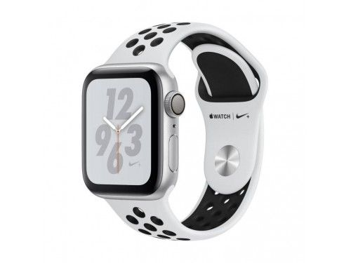 Apple Watch Nike+ Series 4 GPS + Cellular 44mm Caja Aluminio Plata Correa Correa Deportiva Nike Platino Puro