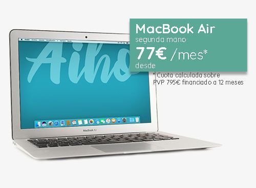Financiar Macbook Air segunda mano