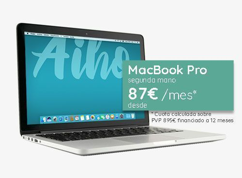 Financiar Macbook Pro segunda mano